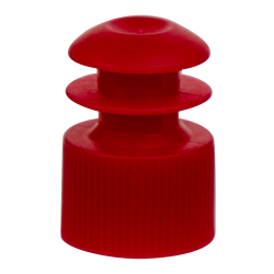 12mm Red Flanged Cap