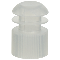 16mm Clear Flanged Cap