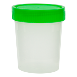 4 oz./120mL Sterile Specimen Container with Green Cap