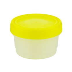8 oz./250mL Large Specimen Container with Yellow Screw Cap