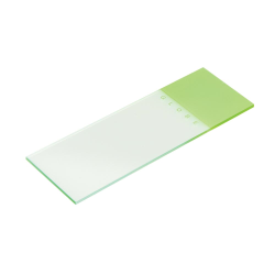 Green Coded Microscope Slide