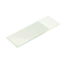 White Coded Microscope Slide