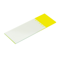 Yellow Coded Microscope Slide