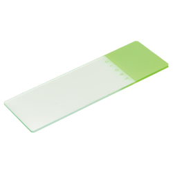 Green Coded Safety Microscope Slide