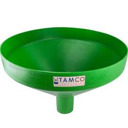 """20-7/8"""" Top Diameter Green Tamco® Funnel with 4"""" OD Spout"""