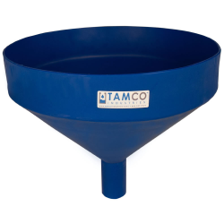"""15"""" Top Diameter Blue Tamco® Funnel with 2"""" OD Spout"""