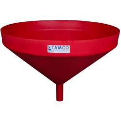 "26"" Top Diameter Red Tamco® Funnel with 1-3/4"" OD Spout"