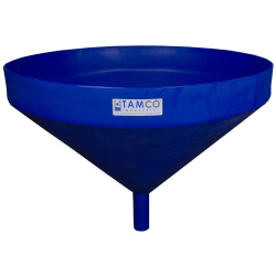 "26"" Top Diameter Blue Tamco® Funnel with 1-3/4"" OD Spout"