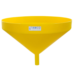 "26"" Top Diameter Yellow Tamco® Funnel with 1-3/4"" OD Spout"