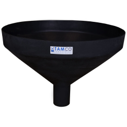 """26"""" Top Diameter Black Tamco® Funnel with 4"""" OD Spout"""