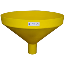 """26"""" Top Diameter Yellow Tamco® Funnel with 4"""" OD Spout"""