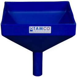"""10"""" Square Blue Tamco® Funnel with 1-1/2"""" OD Spout"""