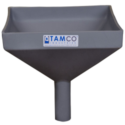 """10"""" Square Light Gray Tamco® Funnel with 1-1/2"""" OD Spout"""
