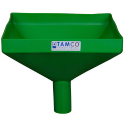 """12"""" Square Green Tamco® Funnel with 2"""" OD Spout"""