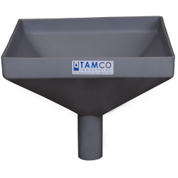 """12"""" Square Light Gray Tamco® Funnel with 2"""" OD Spout"""