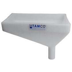 """12"""" x 8"""" Rectangular Natural Tamco® Funnel with 1-1/2"""" OD Offset Spout"""