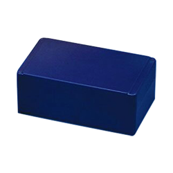 25 Slide Blue ABS Storage Box with Hinged Lid