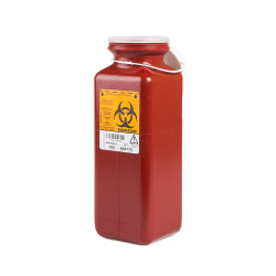 1.7 Quart Red Non-Stackable Sharps Container