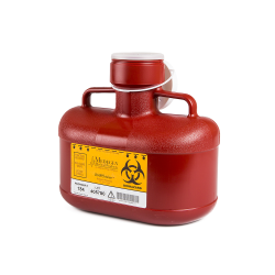 4.8 Quart Red Non-Stackable Sharps Container