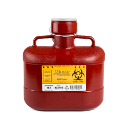 6.2 Quart Red Non-Stackable Sharps Container