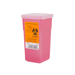 1 Quart Translucent Red Stackable Sharps Container