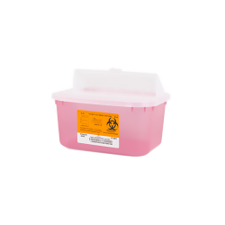 1 Gallon Translucent Red Stackable Sharps Container