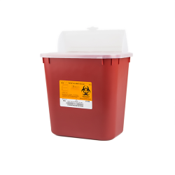 2 Gallon Red Stackable Sharps Container