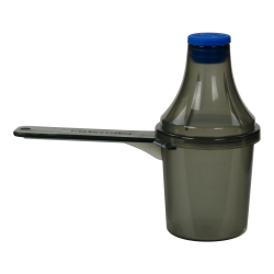 30cc Red Polypropylene Scoop with Attached Funnel & Cap