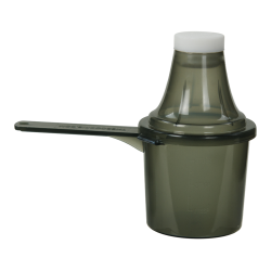 60cc Red Polypropylene Scoop with Attached Funnel & Cap