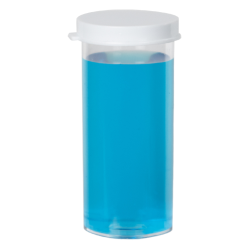 15 Dram Premium Polystyrene Clear Vial with Snap Cap