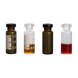 2mL Amber Graduated Standard Opening Crimp Top Vials with 11mm Crimp Neck - Case of 1000 (Seals Sold Separately)