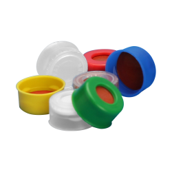 11mm Yellow Poly Crimp™ Seals with PTFE/Silicone Liners - Case of 1000
