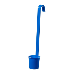50mL Sterileware® Blue Polypropylene Upright Handle Dippers/Ladles - Case of 40