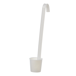 50mL Sterileware® White HDPE Upright Handle Dippers/Ladles - Case of 40