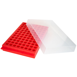 Red Reversible MicroCentrifuge Rack