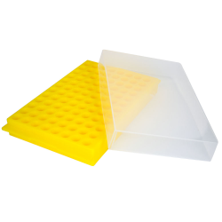 Yellow Reversible MicroCentrifuge Rack