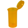 1.63 oz. Transparent Orange Squeezetop® Hinged Lid Vials