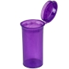 1.63 oz. Transparent Violet Squeezetop® Hinged Lid Vials