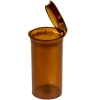 1.63 oz. Transparent Amber Squeezetop® Hinged Lid Vials
