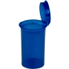 2.38 oz. Transparent Blue Squeezetop® Hinged Lid Vials