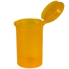 2.38 oz. Transparent Orange Squeezetop® Hinged Lid Vial