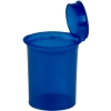 3.75 oz. Transparent Blue Squeezetop® Hinged Lid Vials