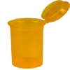3.75 oz. Transparent Orange Squeezetop® Hinged Lid Vials