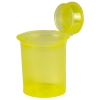 3.75 oz. Transparent Yellow Squeezetop® Hinged Lid Vials