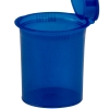 7.50 oz. Transparent Blue Squeezetop® Hinged Lid Vials