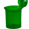 7.50 oz. Transparent Green Squeezetop® Hinged Lid Vials