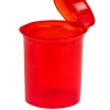 7.50 oz. Transparent Red Squeezetop® Hinged Lid Vials