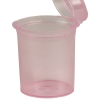7.50 oz. Transparent Pink Squeezetop® Hinged Lid Vials