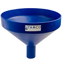 "17-1/4"" Top Diameter Blue Tamco® Funnel with 2-7/8"" OD Spout"