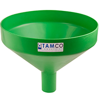 "17-1/4"" Top Diameter Green Tamco® Funnel with 2-7/8"" OD Spout"
